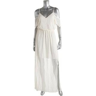 Ella Moss Womens Maxi Dress Silk Lace - M
