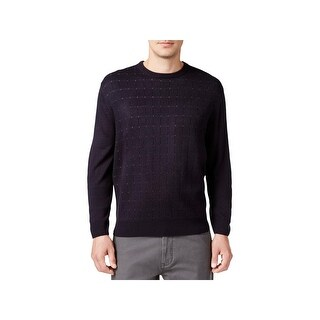 Weatherproof Mens Crewneck Sweater Ribbed Trim Pindot