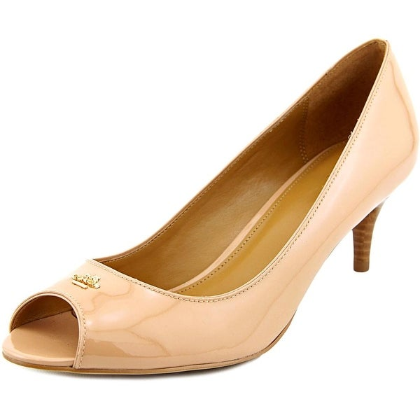 Coach Delilah Peep-Toe Patent Leather Heels
