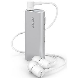 Sony Stereo Bluetooth Headset SBH56 with Speaker & Camera Shutter Button - Silver