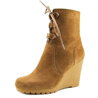 Michael Michael Kors Rory Bootie Round Toe Suede Ankle Boot