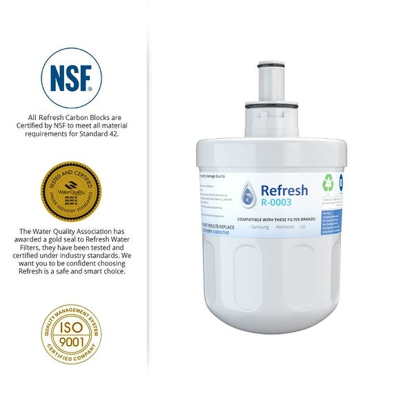 Replacement Water Filter for Samsung RS277ACPN Refrigerators