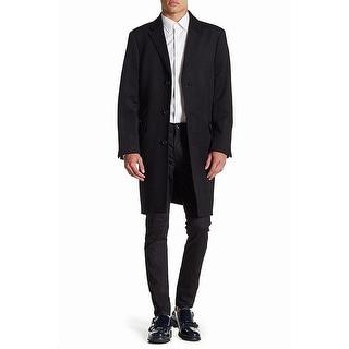 Link to Hart Schaffner Marx Black Mens Overcoat Size 40R Longline Wool Blend Similar Items in Men's Outerwear