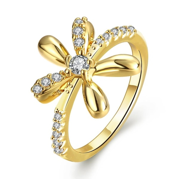 Orchid Floral Gold Inspired Ring