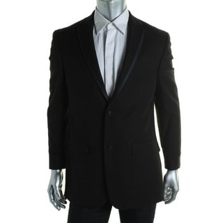 Sean John Mens Textured Double Vented Two-Button Suit Jacket - 46R