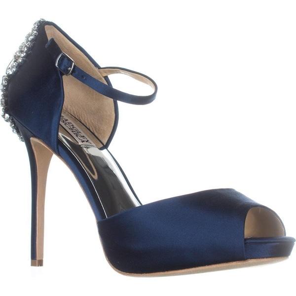 Badgley Mischka Dawn Mary Jane Dress Sandals, Navy