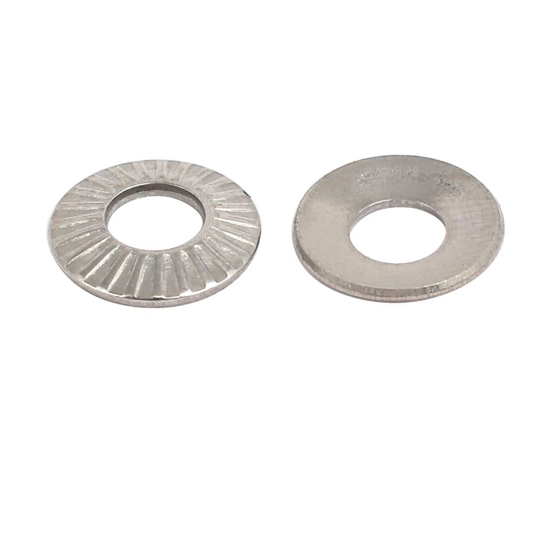 uxcell M8 304 Stainless Steel Locking Washer Silver Tone 20pcs