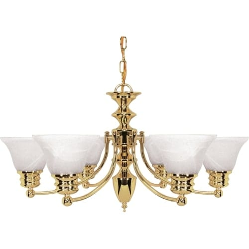 "Nuvo Lighting 60/357 Empire 6 Light 26"" Wide Chandelier"