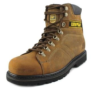 Caterpillar Silverton Men Round Toe Leather Brown Work Boot