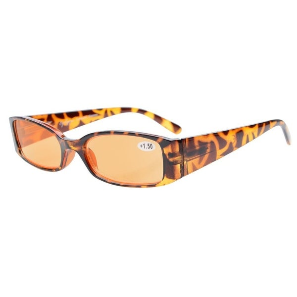 Anti Blue Glare Orange Tinted Lenses Womens Readers DEMI+1.00