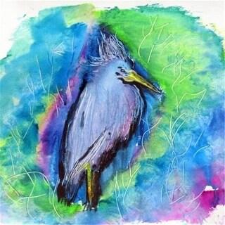 Betsy Drake DM438 Little Blue Heron Door Mat Small