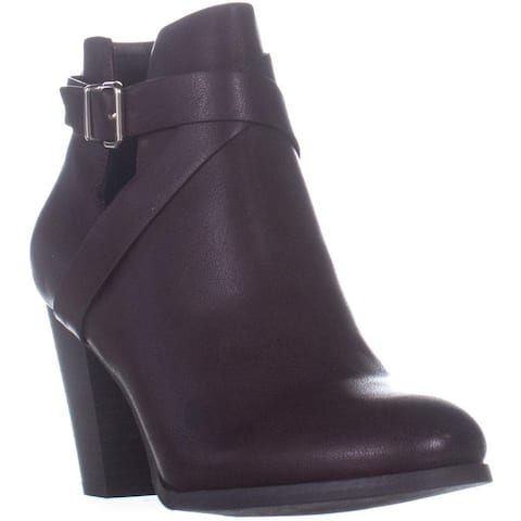 Call It Spring Tecia Buckle Ankle Boots, Bordo