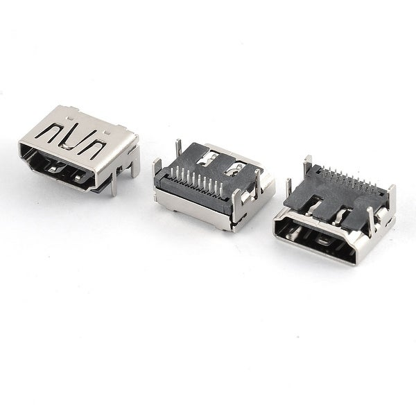 3pcs Right Angle HDMI Female to 19Pin SMT Socket Jack connector for Computer PCB