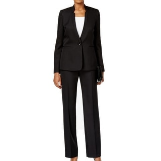 Tahari By ASL NEW Black Women's Size 2 Pinstriped Pant Suit Set