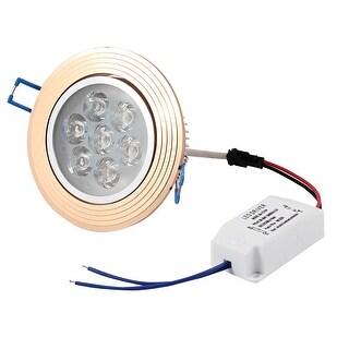 Unique Bargains A90V-264V 7W Warm White Ceiling Downlight Recessed Spot Lamp Bulb + LED Driver