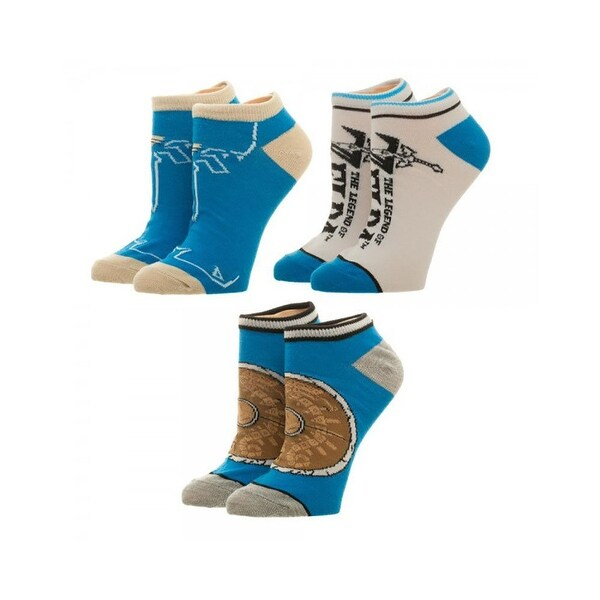 Zelda Breath of the Wild Ankle Socks 3 Pack