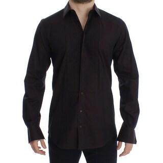 Dolce & Gabbana Purple GOLD Slim Fit Tuxedo Dress Shirt - 40
