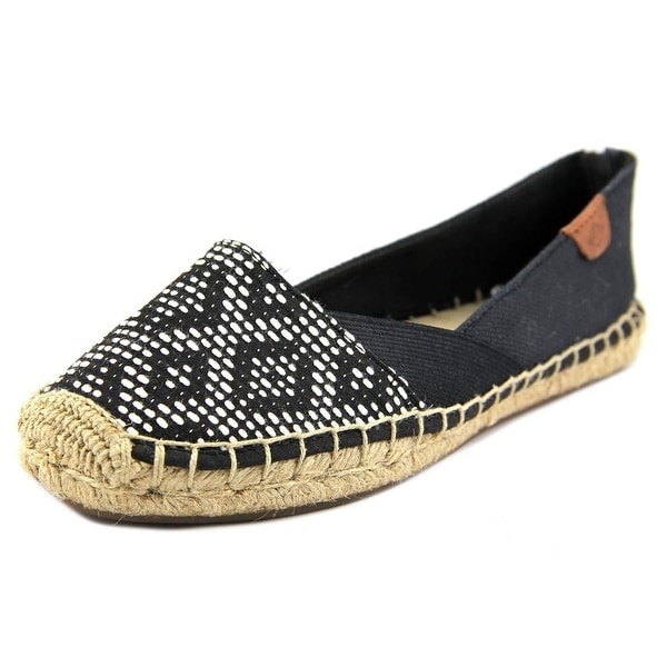 Sperry Top Sider Katama Women Round Toe Canvas Black Espadrille