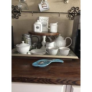 Lenox 'French Perle' White 7-piece Tea Set