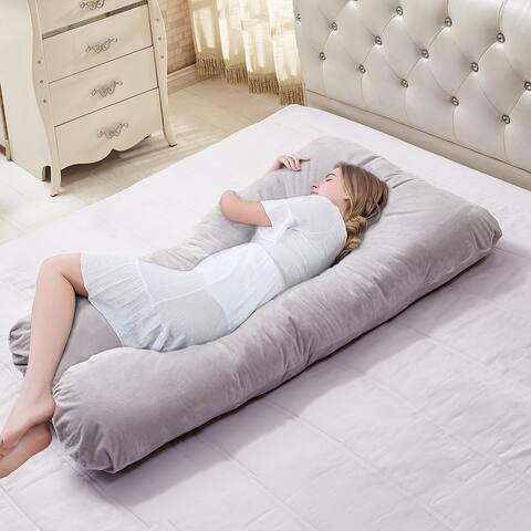 VECELO Full Body Pregnancy Pillow Maternity Pillow U-Shape/C-Shape