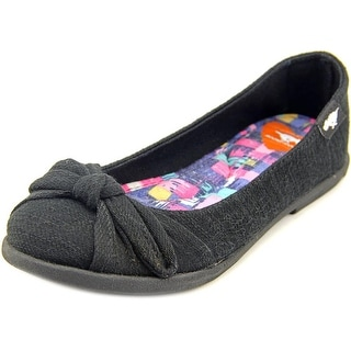 Rocket Dog Jiggy Coast Women Round Toe Canvas Black Flats