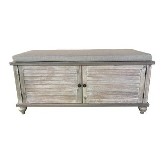 Link to Shelly Shutter Front Storage Bench Similar Items in Living Room Furniture