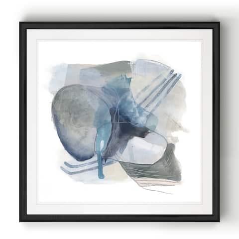 Stone Ellipses II -Black Framed Print