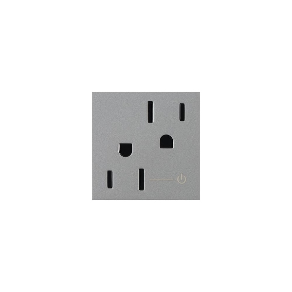 Legrand ARCH152M10 Adorne Half Controlled Outlet - magnesium - N/A