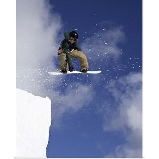 """Snowboarder"" Poster Print"