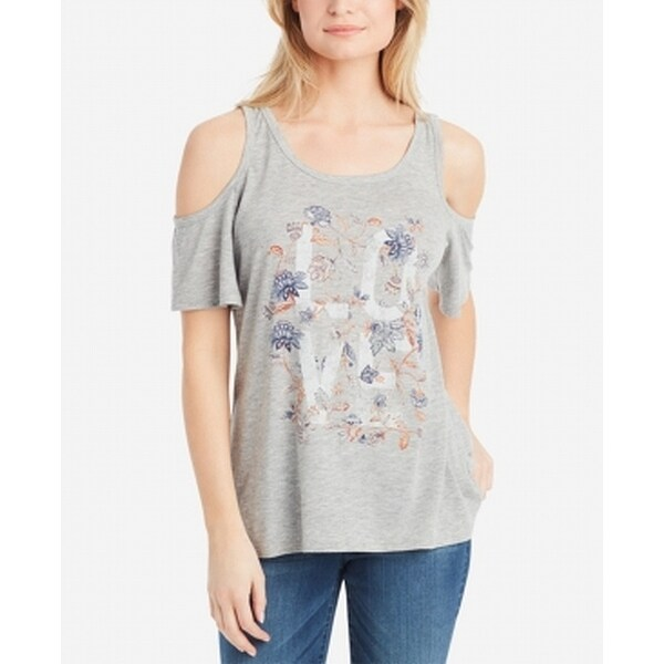 ba1c92a09a3 Shop Jessica Simpson Heather Gray Womens Size Large L Cold Shoulder Top -  Free Shipping On Orders Over $45 - Overstock - 28078672