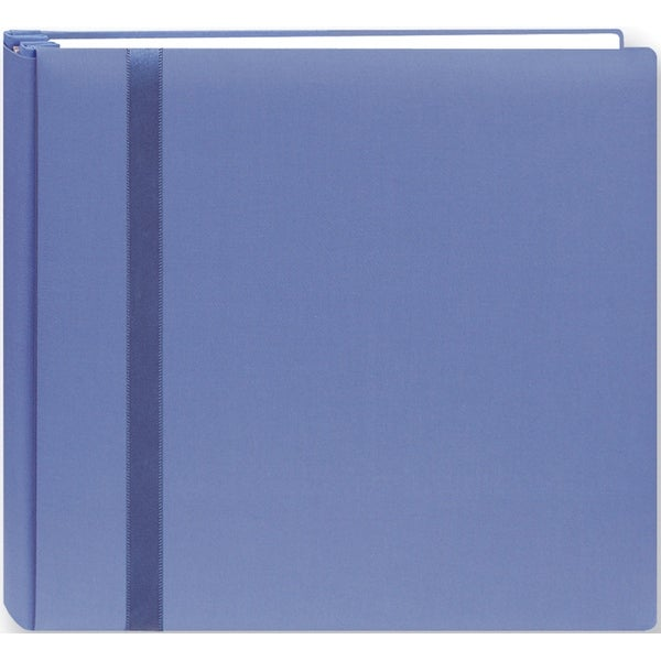 "Snapload Cloth W/Ribbon Album 8""X8""-Blue - Blue"