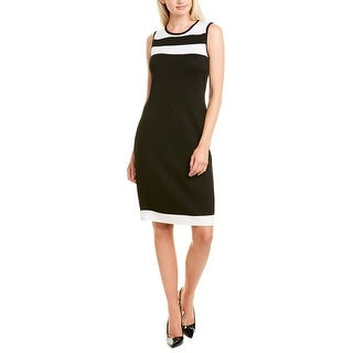 Link to St. John Colorblocked Wool-Blend Shift Dress Similar Items in Dresses