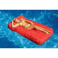 """72"""" Vibrant Red SunSoft Inflatable Swimming Pool Mattress Lounger Float"""