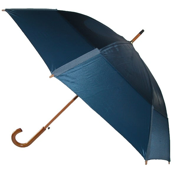 GustBuster Auto Open Vented Stick Umbrella with Hook Handle