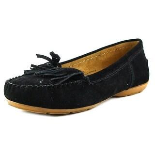 Sporto Patty Women W Round Toe Suede Black Loafer