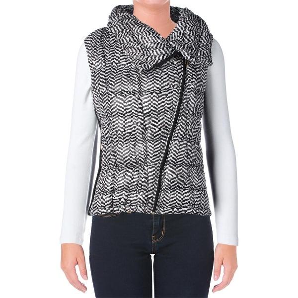 Calvin Klein Womens Outerwear Vest Puffer Printed