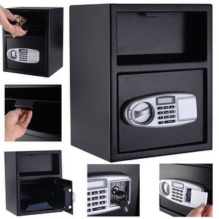 Costway Digital Safe Box Depository Drop Deposit Front Load Cash Vault