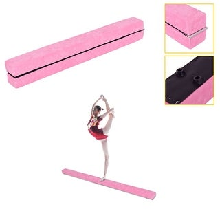 Costway 7' Sectional Gymnastics Floor Balance Beam Skill Performance Training Folding - Pink