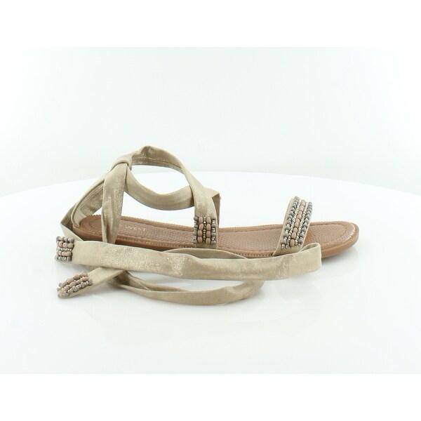 Nine West Xoanna Women's Sandals & Flip Flops Lt Gold - 9.5