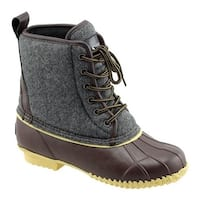 Superior Boot Co. Women's Felt Lace Up Duck Boot Grey