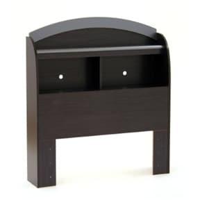 Black Onyx Twin-Size Bookcase Headboard