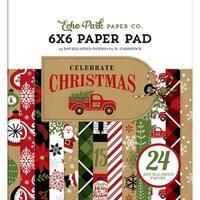"Echo Park Double-Sided Paper Pad 6""X6"" 24/Pkg-Celebrate Christmas, 12 Designs/2 Each"