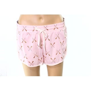 Jane And Bleecker NEW Pink Womens Size Small S Oar Print Lounge Shorts