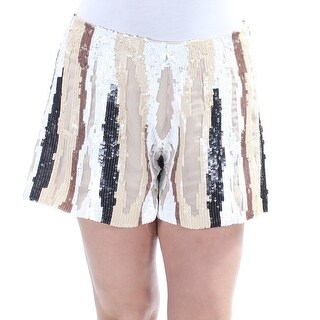 Womens Brown White Straight leg Short Size 10