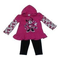 American Character Baby Girls Fuchsia Minnie Mouse Bow Pant Set