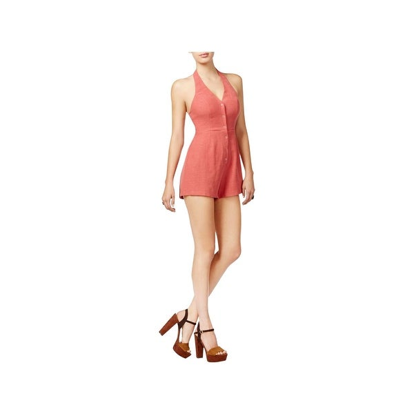 198244b80b7 Shop ASTR the Label Womens MARIANA Romper Woven Halter - Free Shipping On  Orders Over  45 - Overstock - 23080521