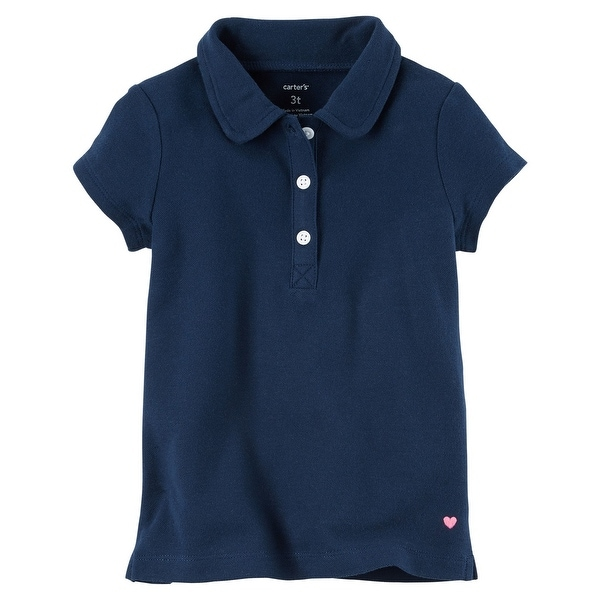026b6d4d0 Shop Carter's Big Girls' Piqué Polo, 8 Kids - Free Shipping On Orders Over  $45 - Overstock.com - 18304535
