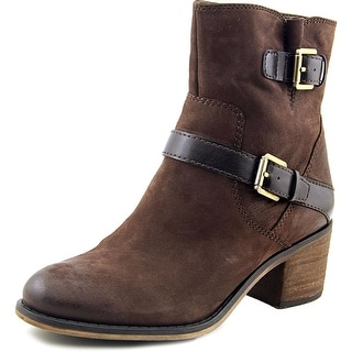 Franco Sarto Larisa 2 Women Round Toe Leather Brown Ankle Boot