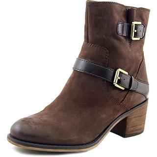 Franco Sarto Larisa 2 Round Toe Leather Ankle Boot