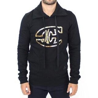 Cavalli Cavalli Black cotton sweater